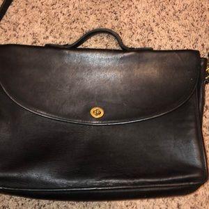 Coach vintage leather briefcase bag. Authentic